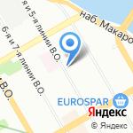 Муниципальное образование Васильевский округ на карте Санкт-Петербурга