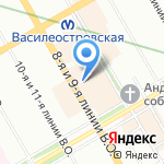 Невский престиж на карте Санкт-Петербурга