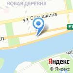 Пожарная часть №22 Приморского района на карте Санкт-Петербурга