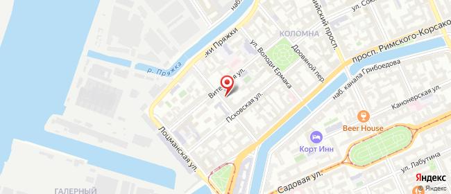 Карта расположения пункта доставки Санкт-Петербург Мясная в городе Санкт-Петербург