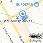 Магазин домашнего текстиля и товаров для сна на карте Санкт-Петербурга