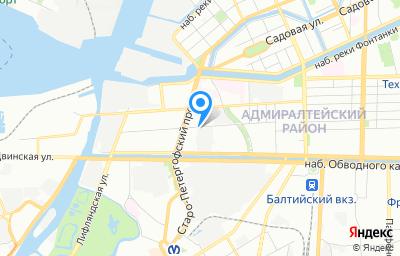 Местоположение на карте пункта техосмотра по адресу г Санкт-Петербург, ул Курляндская, д 30 литер в
