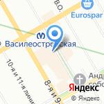 Ecco на карте Санкт-Петербурга