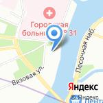 ШВСМ по водным видам спорта на карте Санкт-Петербурга