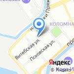 Адвокат Дунаевский С.А. на карте Санкт-Петербурга