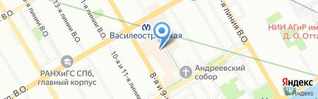 Б. Браун Медикал на карте Санкт-Петербурга