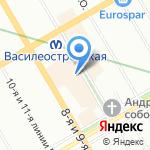 Чайная студия на Васильевском на карте Санкт-Петербурга