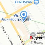 Шаг на встречу на карте Санкт-Петербурга