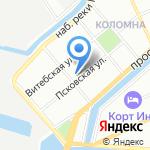 Уютно всем на карте Санкт-Петербурга