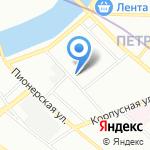 Line artworks на карте Санкт-Петербурга