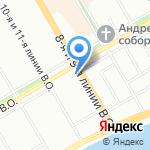 InfoCard на карте Санкт-Петербурга