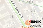 Схема проезда до компании Чайникофф в Санкт-Петербурге