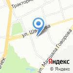 Балт-Форвард на карте Санкт-Петербурга