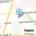 Лунный кот на карте Санкт-Петербурга