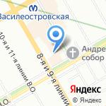 Кэтино на карте Санкт-Петербурга