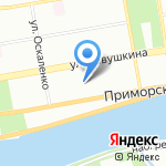 ТСТ на карте Санкт-Петербурга