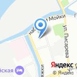 Скарабей на карте Санкт-Петербурга