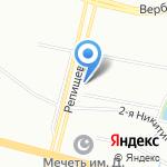Алексеевский бастион на карте Санкт-Петербурга