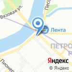 Метеор-1 на карте Санкт-Петербурга