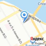 Часовня при детской городской больнице святой равноапостольной Марии Магдалины на карте Санкт-Петербурга