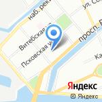 Ржавая подкова на карте Санкт-Петербурга