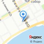 Золотой колос на карте Санкт-Петербурга