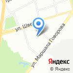 Спин на карте Санкт-Петербурга
