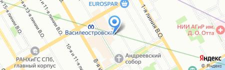 Травелита на карте Санкт-Петербурга