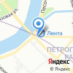 Банк Александровский на карте Санкт-Петербурга