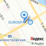 Аль-Шарк на карте Санкт-Петербурга