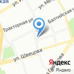 Балтиец на карте Санкт-Петербурга