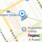 Школа иностранных языков на карте Санкт-Петербурга