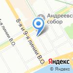 Аккорд на карте Санкт-Петербурга