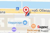Схема проезда до компании Обтекс в Санкт-Петербурге
