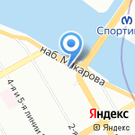 Бар разбитых сердец Тельмы и Луизы на карте Санкт-Петербурга