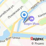 Домик в Коломне на карте Санкт-Петербурга