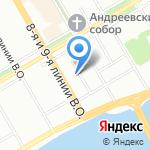 Sokos Hotel Vasilievsky на карте Санкт-Петербурга