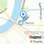 Лента на карте Санкт-Петербурга