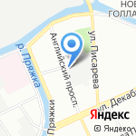 Аджей на карте Санкт-Петербурга