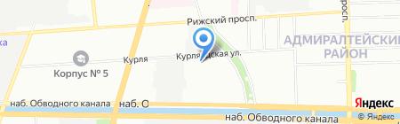 Парикмахерская на Курляндской на карте Санкт-Петербурга