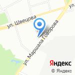 Дипломат на карте Санкт-Петербурга