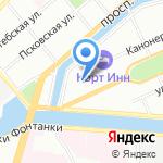 Интер-Апарт на карте Санкт-Петербурга