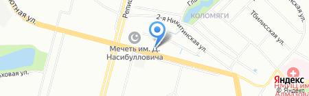 Шиномонтажная мастерская на ул. Репищева на карте Санкт-Петербурга