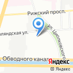 Транзит на карте Санкт-Петербурга