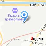 ОМАТЕКС на карте Санкт-Петербурга