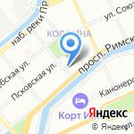 Весенний на карте Санкт-Петербурга