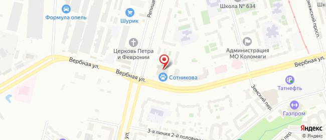 Карта расположения пункта доставки Санкт-Петербург Репищева в городе Санкт-Петербург
