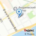 Ботфорт на карте Санкт-Петербурга