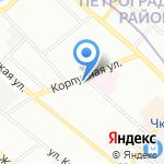 Менар на карте Санкт-Петербурга