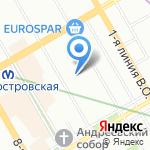 Контэкс на карте Санкт-Петербурга